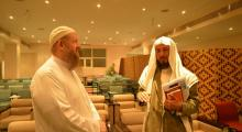 Brother Omar Bill Lowrey with Dr. Abdullah Abu-Eshy